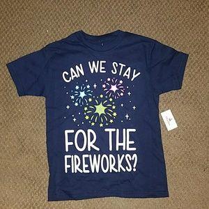 Nwt disney parks tee shirt kids small fireworks